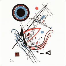 Wall sticker  Lithograph Blue - Wassily Kandinsky