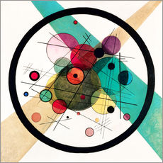 Gallery print  Circles in a circle - Wassily Kandinsky