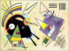 Wall sticker  Black and purple - Wassily Kandinsky
