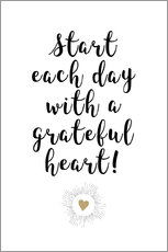 Wall sticker  Grateful heart - Ohkimiko