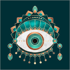 Wall Stickers Teal Eye