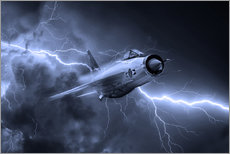 Gallery print  Lightning Power Mono - airpowerart