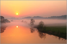 Wall sticker  Sunrise with mist - Bernhard Kaiser