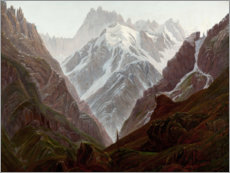 Wood print  high mountains - Karl Gustav Carus