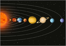 Gallery print  Our solar system