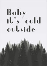 Wall sticker  Baby it's cold outside - Finlay and Noa