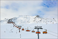 Gallery print  On the slopes