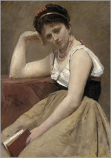 Gallery Print  Interrupted Reading - Jean-Baptiste Camille Corot