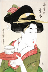 Wall sticker  Southern Teahouse (colour woodblock print) - Kitagawa Utamaro