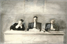 Wall sticker  The Three Judges - Honoré Daumier
