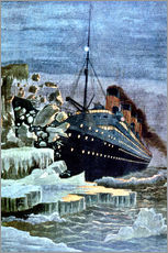 Gallery print  SS Titanic colliding with an iceberg