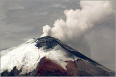 Wall sticker Ash plume rising from Cotopaxi volcano