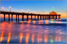 Gallery print  Manhattan Beach Pier at sunrise - Richard Maschmeyer