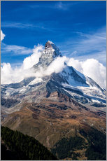 Wall sticker  Matterhorn surrounded by clouds - Roberto Moiola