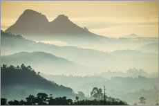 Wall sticker  Sunrise and fog over the mountains - Michael Runkel