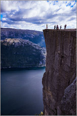 Wall Sticker  Pulpit Rock, Lysefjord view, Stavanger, Norway, Scandinavia, Europe - Jim Nix