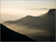 Gallery print  Morning light from Top Station, Kerala - Ben Pipe