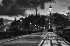 Gallery print  Lanterns at a railroad track in Newcastle - John Short