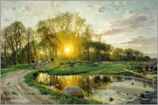 Gallery print  Home Bring the cows at sunset - Peder Mork Mönsted