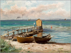 Gallery print  Bathing huts on the beach - Peder Mork Mönsted