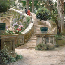 Gallery print  In the park of Villa d'Este - Peder Mørk Mønsted