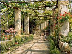 Gallery print  Pergola in Ravello - Peder Mørk Mønsted