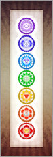 Gallery Print  The Seven Chakras Series 6 - Color Variation Warm Brown - Dirk Czarnota