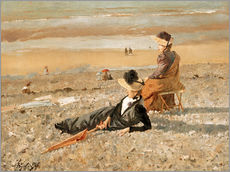 Gallery Print  A beautiful day in Le Tréport - Alfred Stevens