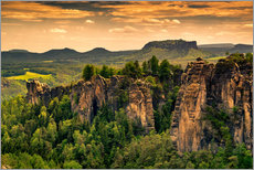 Gallery print  Sandstone mountains Saxon Switzerland - Reiner Würz RWFotoArt