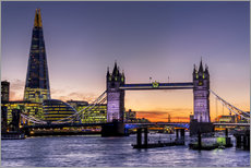 Wall sticker  The Shard with Tower Bridge and Thames - Charles Bowman