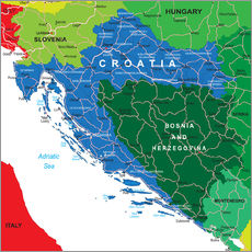 Wall sticker Croatia - Political Map
