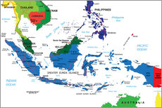 Wall sticker Indonesia - Political map, before 2002