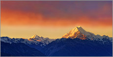 Gallery print  New Zealand Mount Cook Sunset - Michael Rucker