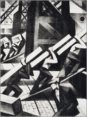 Wall Stickers  loading the ship - Christopher Nevinson