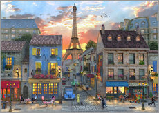 Wall Stickers  streets of paris - Dominic Davison
