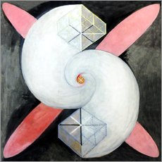 Wall sticker  The swan, No. 21 - Hilma af Klint