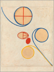 Wood print  The Seven-Pointed Star, No. 2 - Hilma af Klint