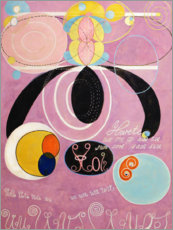 Wood print  The Ten Largest, No. 6, Adulthood - Hilma af Klint