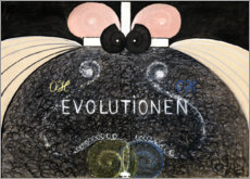 Wall sticker  Evolution, No. 7 - Hilma af Klint
