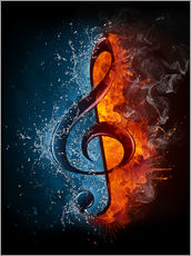 Wall Stickers  Fire and water music
