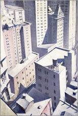 Wall Stickers  Looking Down on Downtown - Christopher Nevinson