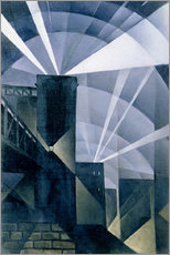 Gallery print  The First Searchlights at Charing Cross - Christopher Nevinson