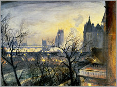 Gallery print  London Twilight from the Adelphi - Christopher Nevinson
