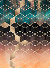 Wall sticker  Ombre dream cubes - Elisabeth Fredriksson