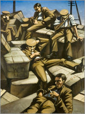 Gallery print  Dog Tired - Christopher Nevinson