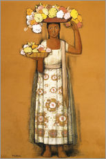 Gallery Print  woman with flowers - Alfredo Ramos Martinez