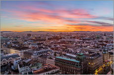Gallery print  Vienna Skyline at sunset, Austria - Mike Clegg Photography
