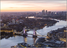 Gallery print  Colourful sunsets in London - Mike Clegg Photography