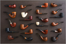 Wall Stickers  Collection of smoking pipes - Elisabeth Cölfen