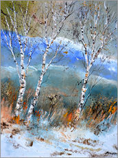 Gallery print  Birches in the winter - Pol Ledent